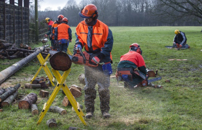 Rural Skills course with chainsaw